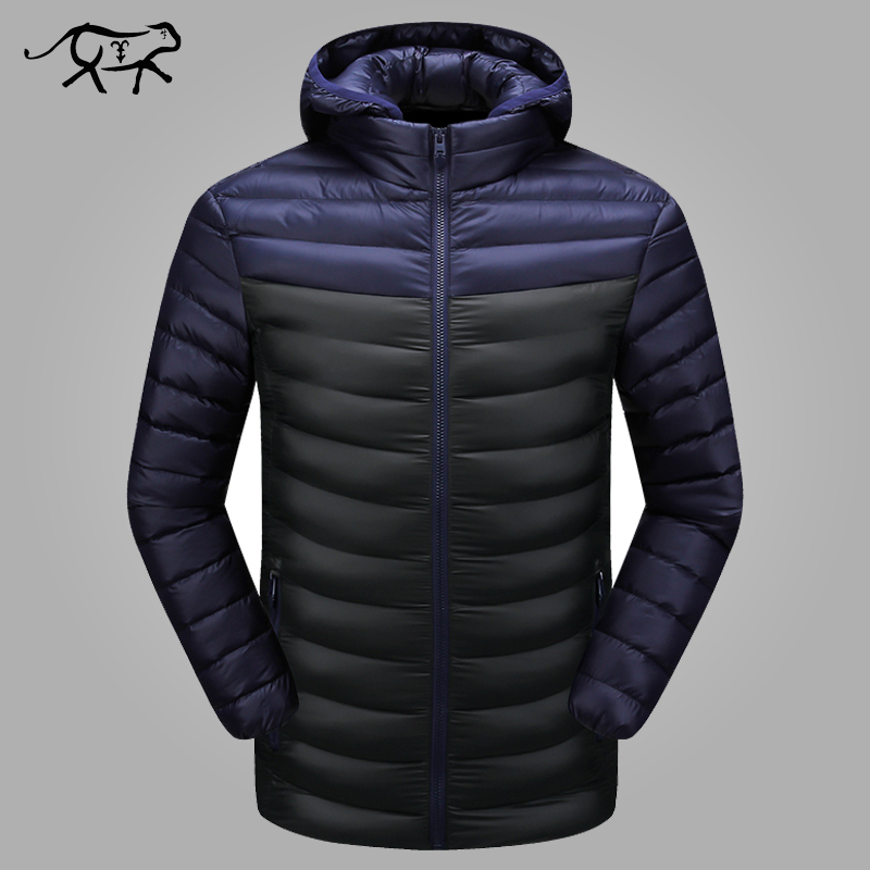 Winter Jacket Men Warm Outwear Patchwork Hooded Jackets Mens Fashion Casual Brand Thick Down   Parka   Male Overcoat Plus Size L-4XL