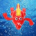 1 unids Unisex Mini Fun de Juguete Del Baño Del Bebé de Cocodrilo Terminan Nadando Clockwork Dabbling Juguete para Bebé Niños Educativo juguete como Regalo FCI #