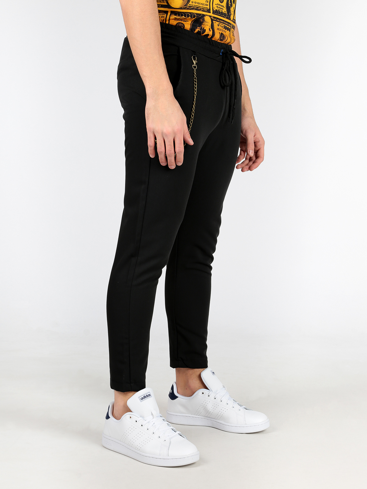 Black Pants With Chain