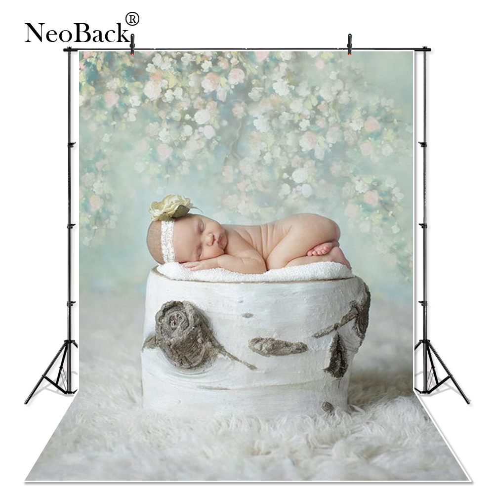 NeoBack Black Friday 5x7ft New Born Baby Green Tone Thin Vinyl Photographic Backgrounds Photo Studio Children Backdrops B0001 children photographic backgrounds shabby chic wooden photo backdrops cloth vinyl backgrounds for photo studio fundo fotografia