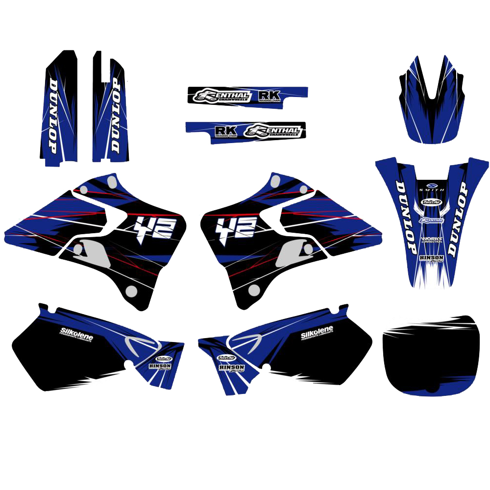 Team Graphics Backgrounds Decals Stickers Kit For Yamaha YZ125 YZ250 YZ 125 250 1996 2014 1997