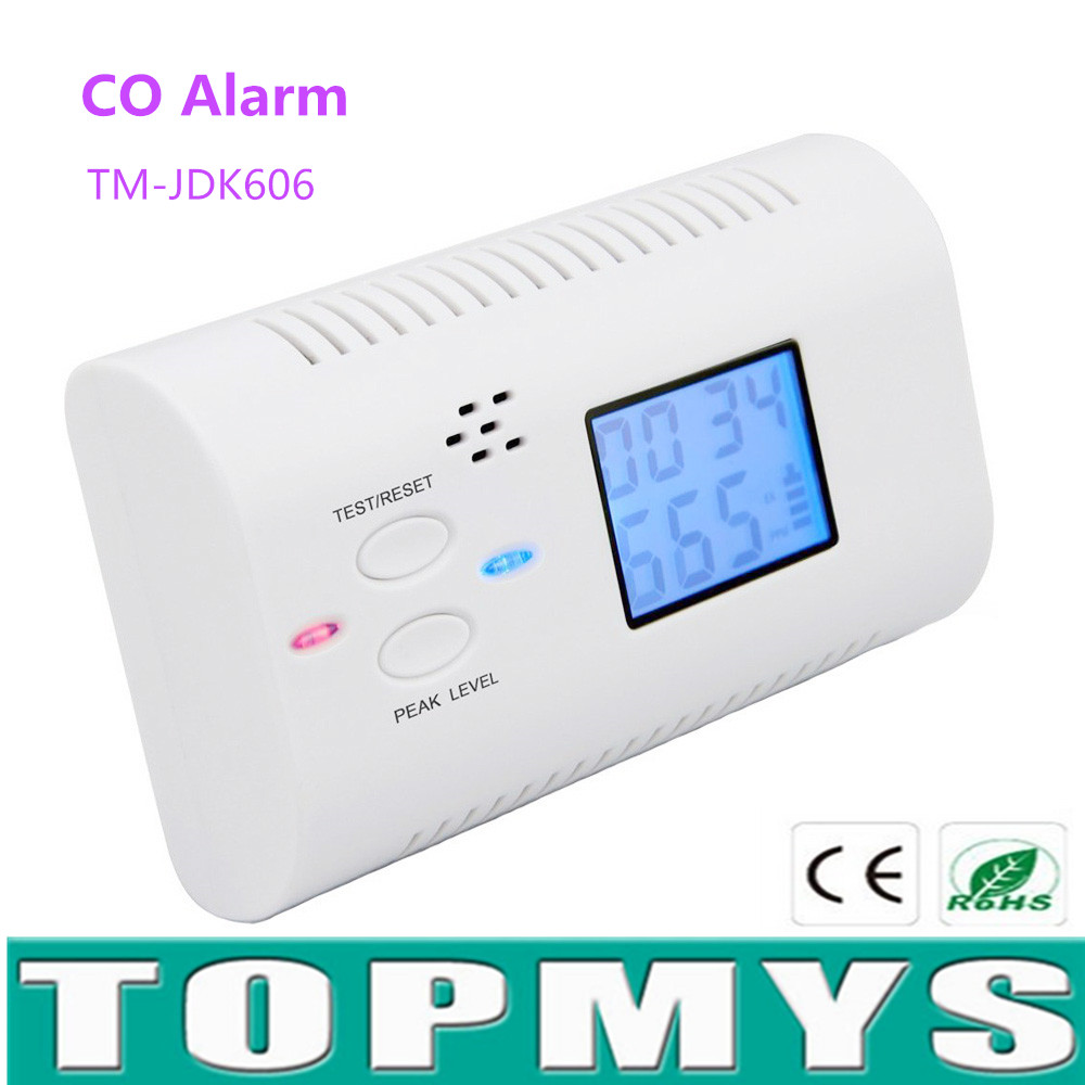 Original Smartyiba Battery Operated Co Carbon Monoxide Detector Poisoning Gas Sensor Alarm Lcd Photoelectric Co Detector With Clock Voice Security & Protection