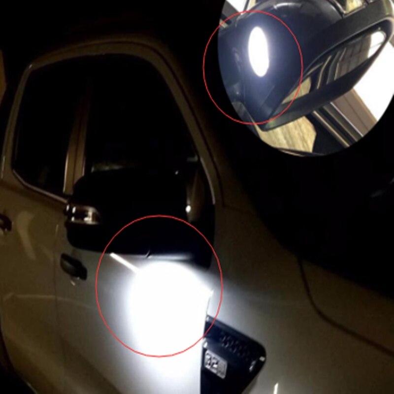 פורד 2x עבור פורד LED תחת Mirror שלולית אור F-150 EDGE Explorer מונדיאו שור Flex טווח המוסטנג הוביל אחורי במראה רכב מנורה סטיילינג (3)