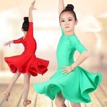 Nieuwe Latin Dans Jurk Voor Meisjes Latin Kostuum Kind Kinderen Dansen Jurk Meisje Dancewear Kid Concurrentie Latin Jurk Hoge Kwaliteit