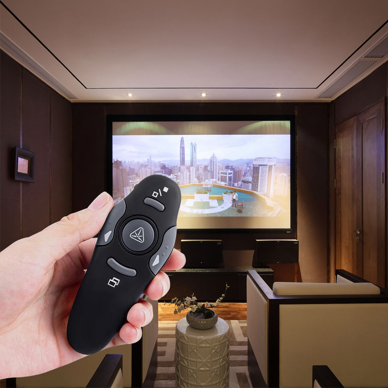 ANBES 2.4Ghz USB Wireless Presenter Red Laser Pointer PPT Remote Control for Powerpoint Presentation