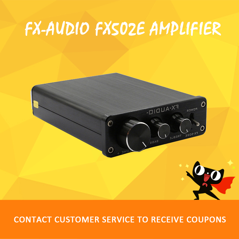 FX-AUDIO 502E amplifier audio hi fi 2.1 audio amplifier power amplifiers amplificador audio