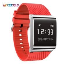 Nueva presión arterial interpad smart watch reloj de pulsera de vigilancia de la salud de oxígeno de la sangre para ios android con podómetro smartwatch