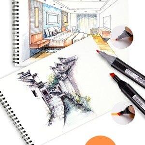 Image 5 - Rysowanie malowanie markery Pen Art podwójna końcówka na bazie alkoholu atrament dla artysty Manga na bazie Marker pędzel zestaw papeterii zakreślacz