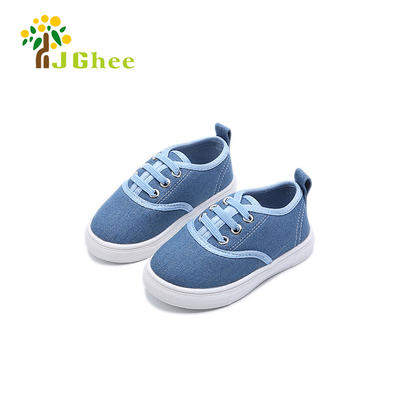 2018 Summer Autumn Boys Shoes Kids Canvas Casual Sneakers Baby Boy Toddler Girls Sports Shoes Jeans Children Shoes 21-25