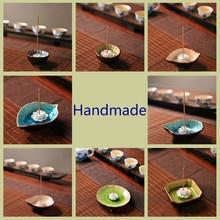 Ceramic Incense Sticks Burner Zen Plate Holder Jingdezhen Base E