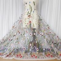Лес стиль вышивка кружевной ткани аксессуары для платье DIY Материал одежда фон ткани
