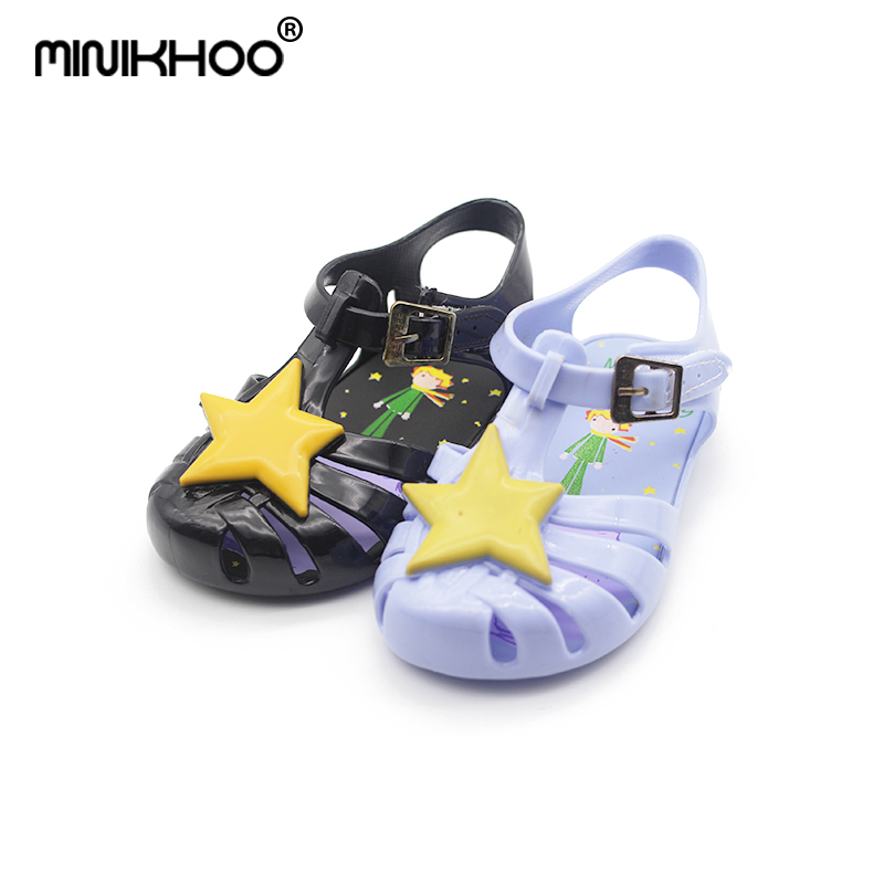 Mini Melissa 11.8-20.8cm Girl Jelly Sandals Rome Prince of Stars Child Sandals Girl Sandals Baby Shoes Girl Shoes Baby Sandals