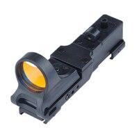 Tactical gun scope riflescope SEEMORE RAILWAY REFLAX SIGHT 20mm black Yellow grey