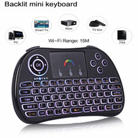 TZ P9 Mini Wireless Keyboard 2 4GHz Air Mouse With Backlit Remote Control Touchpad For Android