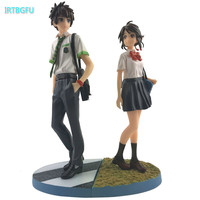 Kiminonawa Your Name Tachibana Taki Miyamizu Mitsuha Japanese Anime Figures One Piece Action Figure Pvc Figures Model Collection