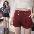 3xl plus size shorts women summer style 2016 bermuda feminina high waist shorts wide leg shorts female A1378