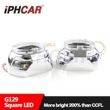 Бесплатная Доставка IPHCAR LHD/RHD 12 В 35 Вт Площадь Универсальный Супер Led Angel Eyes Объектив Проектора H1 Ксеноновые лампа H4 H7