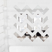 Mirror Wall Stickers Sticker Room Decoration Home Decor Decorative Vinyl House Brick Rectangle Geometry Simple Shape Tiles R161