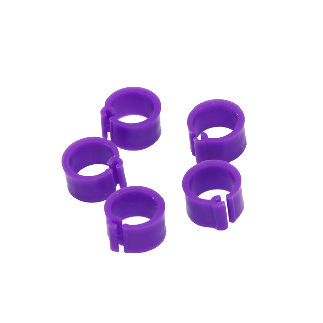 200 Pcs 8 MM Pigeon Foot Ring Color Identification Rings 5