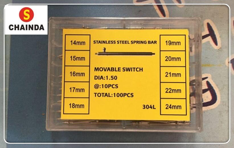 купить Free Shipping 1 Set 100PCS Stainless Steel Single Quick Release Spring Bar Set for Watch Repair по цене 2033.13 рублей