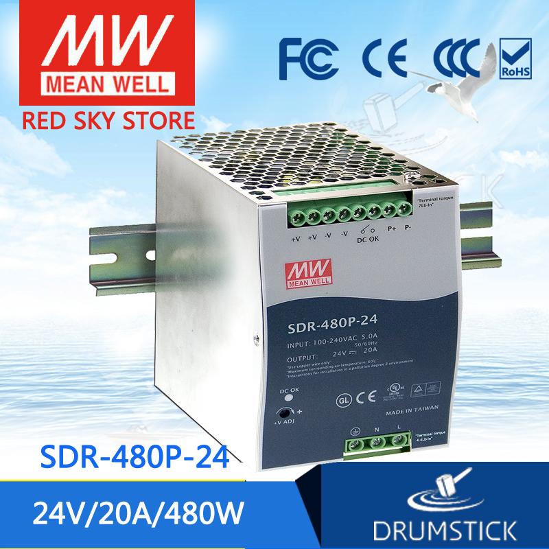 hot-selling MEAN WELL SDR-480P-24 24V 20A meanwell SDR-480P 480W  Industrial DIN RAIL with PFC and Parallel Function цена и фото