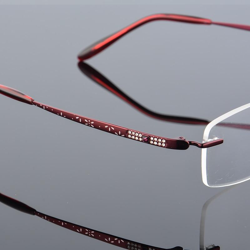 2017 XINZE New Pure Titanium Fashionable Lady Eye Glasses Diamonds - Kläder tillbehör - Foto 5