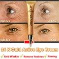 24 К Gold Intensive Eye Anti Aging Крем для Ухода За Кожей Роскошный Уход За Глазами Сущность Против Морщин Глаз Отечность Темный Круг