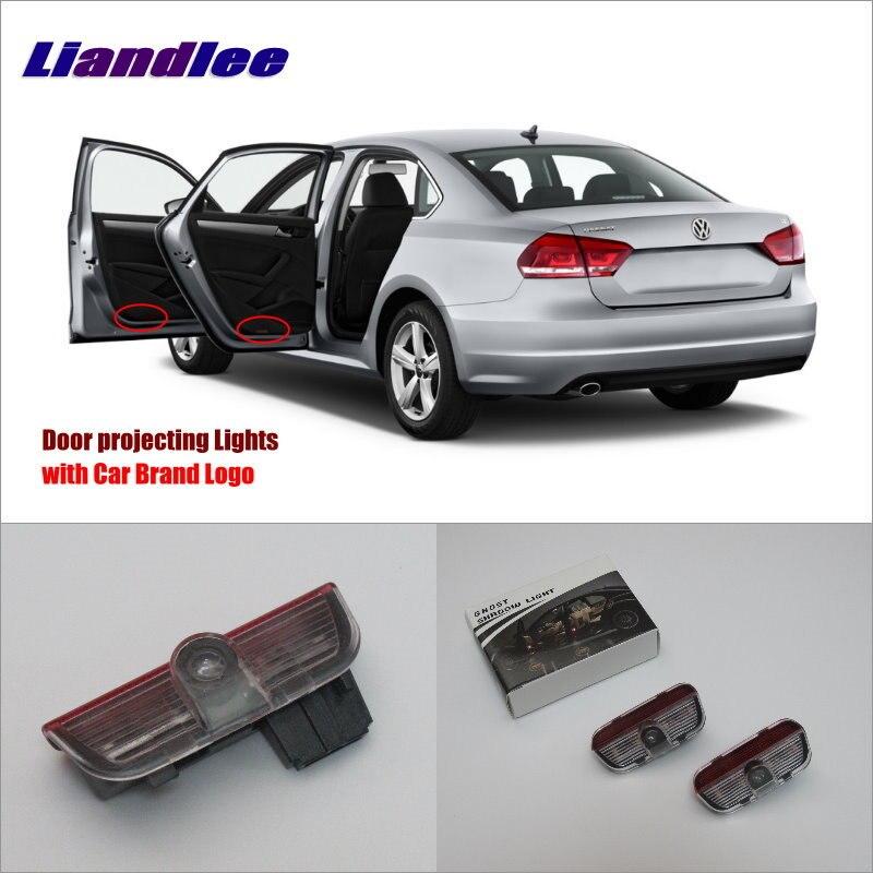 Liandlee Car Door Ghost Shadow Lights For VolksWagen VW Magotan 2012~2015 Courtesy Doors Lamp / LED Projector Welcome Light