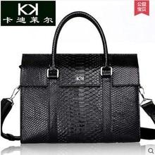 Kadiler import python leather men's bags leather briefcase bag shoulder bag luxury handbag man business bag