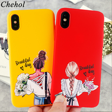 Beauty Phone Case for IPhone X XS MAX XR 8 7 6s Plus Fashion Classy Paris Girl Soft Silicone Fitted Cover Accessories