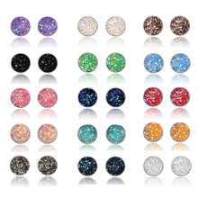 Fashion Stone Stud Earrings set  Ball Crystal Earring For Women Wholesale Jewelry accessories 12mm