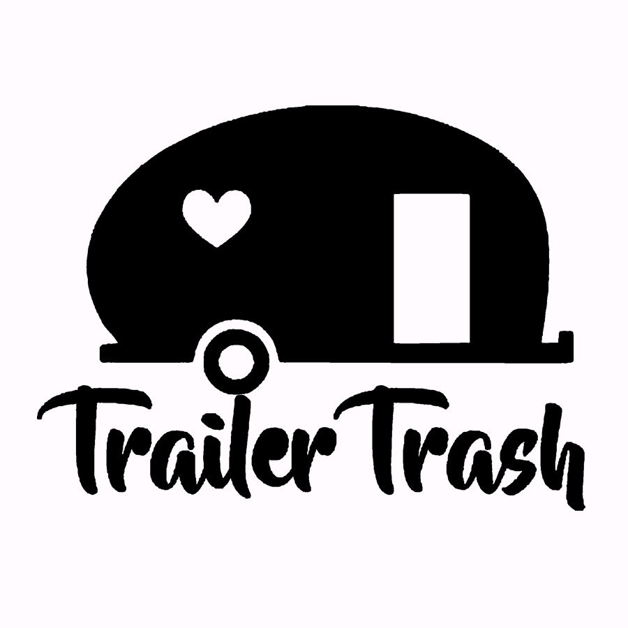 Car styling Funny Trailer Trash Cool Graphics Vinyl Sticker Decal Auto Accessories