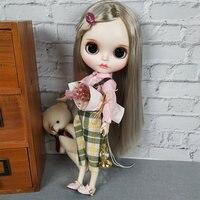 Новинка 1/6 года, белая кукла Blyth из кожи, милая обувь, кукла BJD для продажи, Детская кукла DIY, шарнир для тела, с одеждой, горячие обучающие игруш