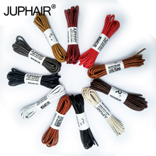 JUP 1 Pair New Round Waxed Unisex Shoelaces Dress Canvas Shoe Lace Sneaker Boots Cotton Laces Strings Shoelace Color