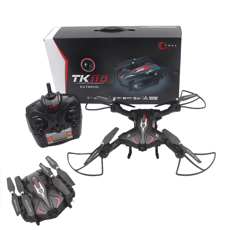 Latest Mini Folding WIFI Camera FPV Drone with 4CH 2.4G 6Axis Automatic Air Pressure High Headless Drone RC Quadcopter toy yc folding mini rc drone fpv wifi 500w hd camera remote control kids toys quadcopter helicopter aircraft toy kid air plane gift