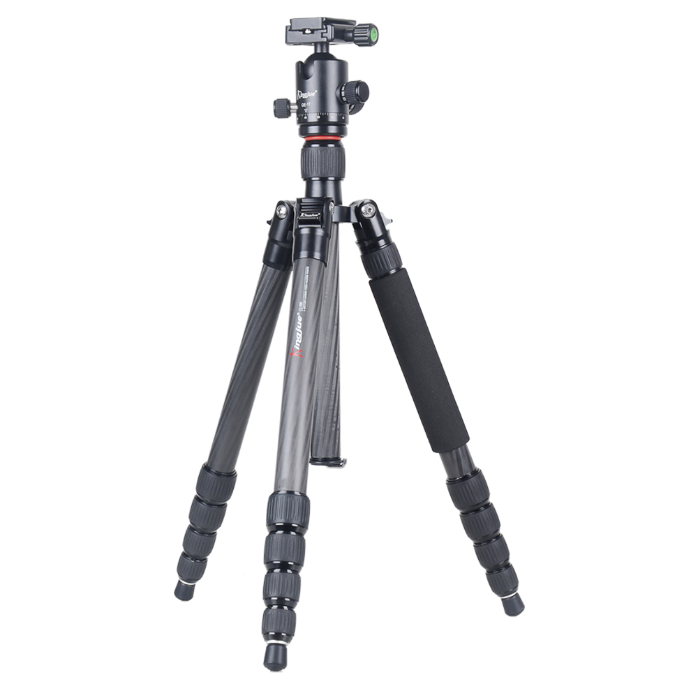 Kingjoy CC 289 QE 1T Angle Adjustment Lightweight Carbon Fiber Light Weight Twist Monopod Tripod Set