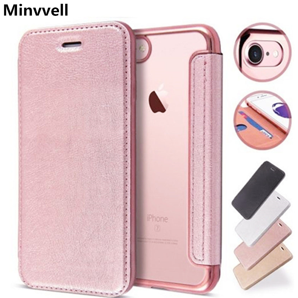 Luxury Slim Book Leather +TPU <font><b>Wallet</b></font> Flip Phone <font><b>Case</b></font> Cover For <font><b>iPhone</b></font> 5 <font><b>5S</b></font> SE 6 6S Plus 7 8 X XS XR XS MAX Card Holder Stand image