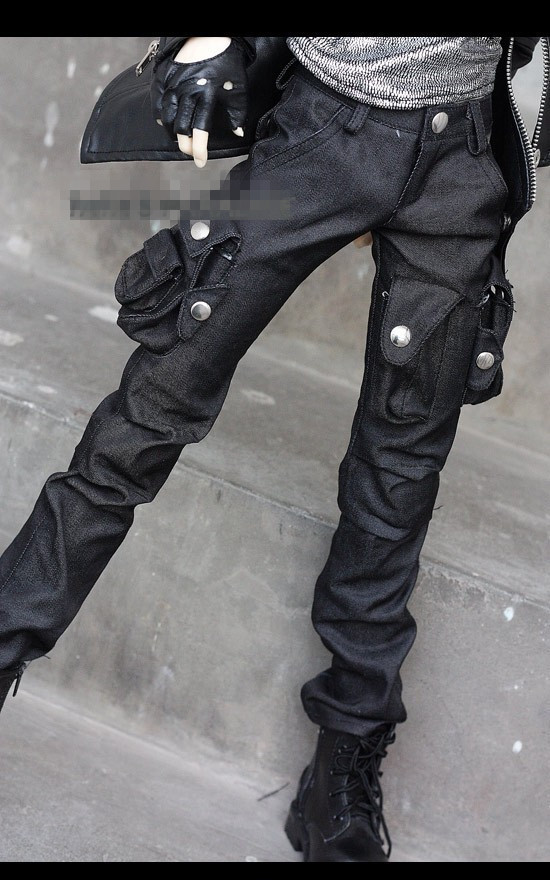 Fashion BJD Doll Wrinkled knee Tooling Sense  Pocket Pants For BJD 1/4,1/3,SD17, Uncle SSDF Doll Clothes CMB34 1 3 1 4 1 6 1 8 1 12 bjd wigs fashion light gray fur wig bjd sd short wig for diy dollfie