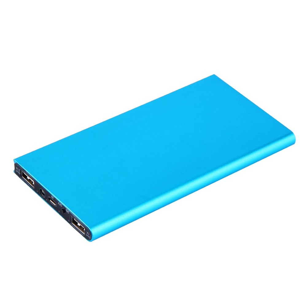 Wopow 20000mah Portable Ultra Thin Powerbank Dual USB Quick External Battery Charger Power Bank 20000mah Slim for Mobile Phone