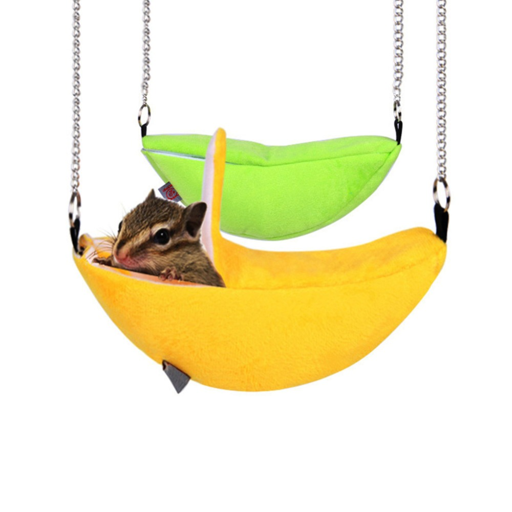 Hamster Rat Bed Hanging House Banana Hammock Bunk Bed House Toys Cage For Sugar Glider Hamster Small Animal Bird Pet Supplies ...