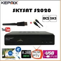SKYSAT S2020 Twin Tuner IKS SKS receptor acm IPTV H.265 Satellite Receiver Brazil for south america stable server