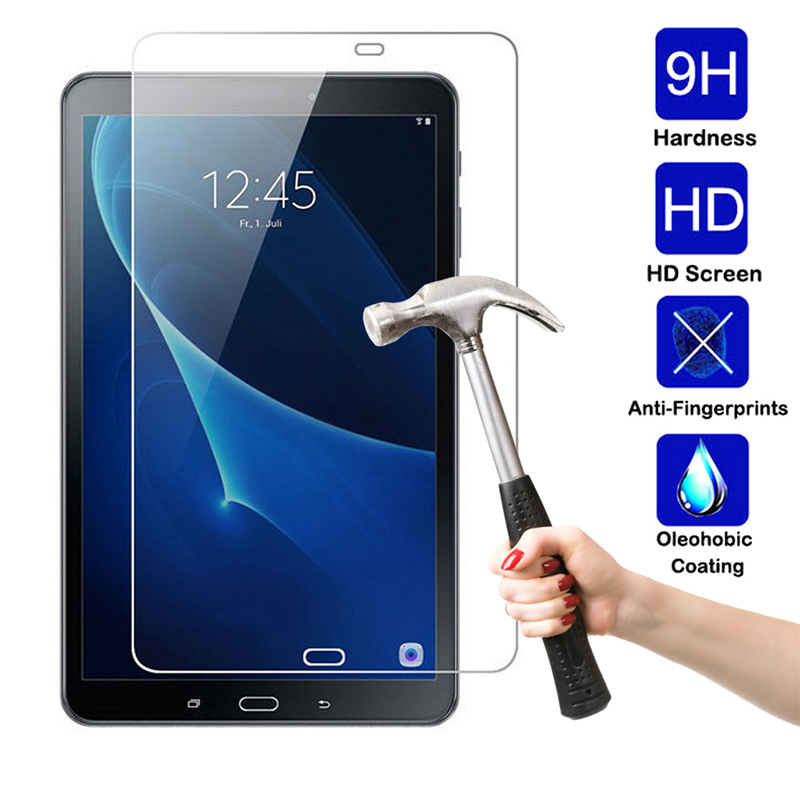10 1 quot 9H Full Cover Tablet Tempered Glass For Samsung Galaxy Tab A T580 T585 Tablet PC Screen Protector Film Protective Shell in Tablet Screen Protectors from Computer amp Office