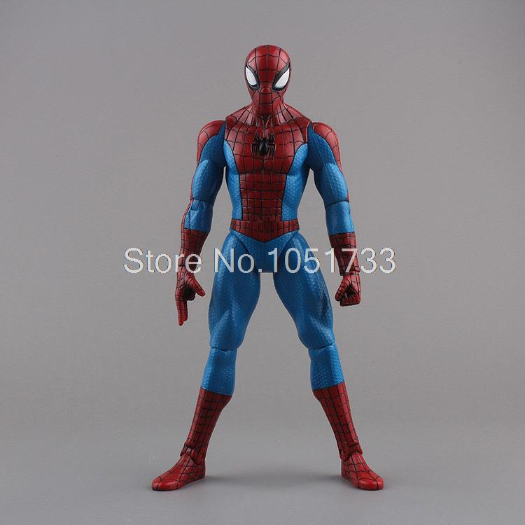 "Spiderman Toys <font><b>Marvel</b></font> <font><b>Superhero</b></font> The Amazing Spider-man PVC Action <font><b>Figure</b></font> Collectible Model Toy 8"" 20CM Free Shipping HRFG255"
