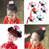 Hot Sale 1PC Multicolor Girls Hairclips Chinese Palace Tassel Princess Flower Hairpin Headwear