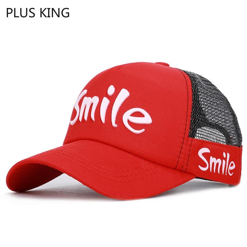 2019 Smile Snapback Kids Baseball Cap Boys Girls Mesh Hat Breathable Summer 50-54cm