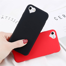 Candy Color Phone Case For Iphone 6S 7 Heart-Shaped Camera Hole Ultra-Thin Scrub For iphone 5 6 7 8 plus Phone Back Cove Coque стоимость