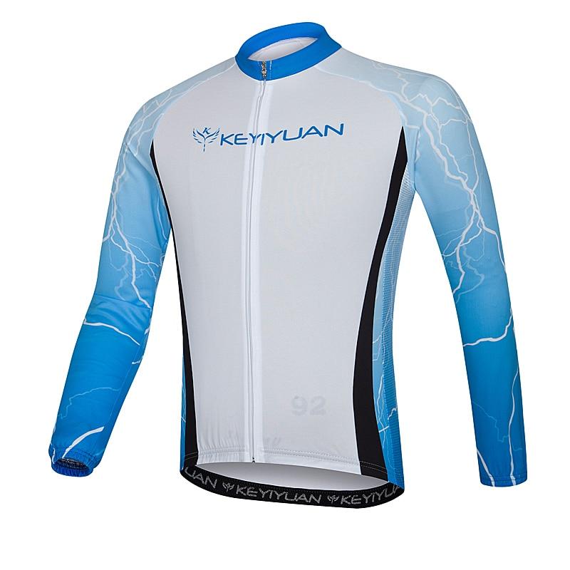 KEYIYUAN cycling suits men long sleeve cycling clothing breathable coat summer suntan quick-drying mountain bike riding a bicycl