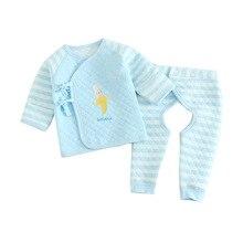 Warm Cartoon stripe Baby Boys Girls Clothes Cotton Baby's Sets M2675-2678