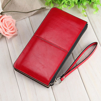 Fashion Capacious Leather Women's Wallet Bags and Wallets Hot Promotions New Arrivals Women's Wallets Color: Red