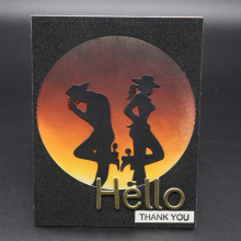 Metal Wonderful dance Cutting Dies Scrapbooking Embossing DIY Decorative Cards Cut Stencils